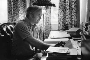 Pat Conroy at Desk