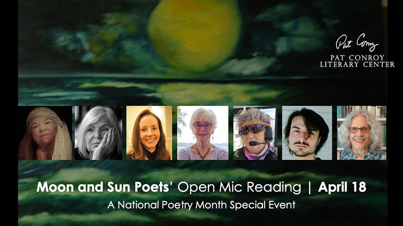 open mic night with moon and sun poets
